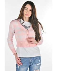 MOASCA CARDIGAN 4BT QUADRI