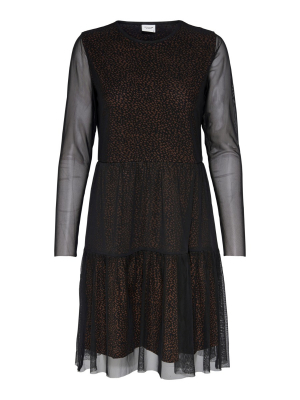JDYDIXIE L/S MESH LAYER DRESS