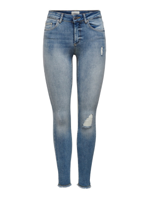 ONLBLUSH MID SK ANK RAW JEANS
