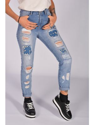 AGLIE JEANS TOPPE PERLE
