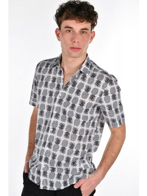 CAMICIA REGULAR STRAIGTH FIT STAMPA