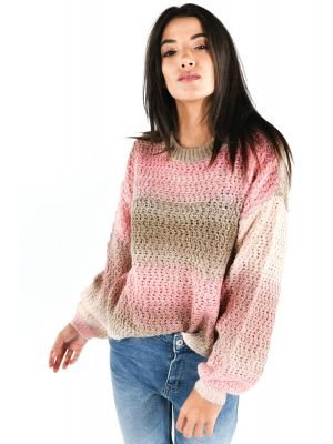 VMDATTESPACE  LS O-NECK BLOUSE